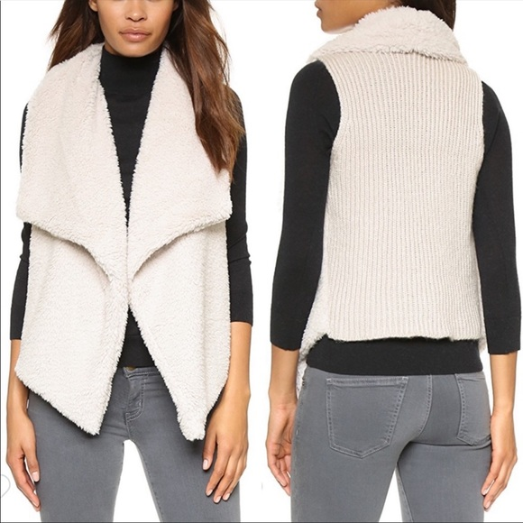 Anthropologie Jackets & Blazers - Anthro BB Dakota Rennie Vest Faux Sweater Fur L